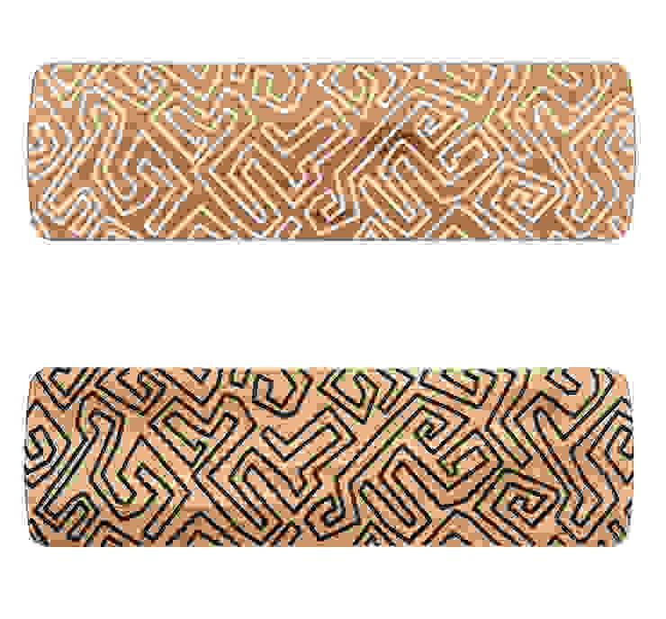 Benjamin bench available in White or Black pattern Mud cloth: scandinavian  by Saks Corner cc, Scandinavian Wood Wood effect