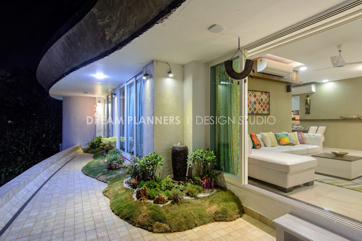 Terrace Garden: tropical  by Dreamplanners,Tropical Stone