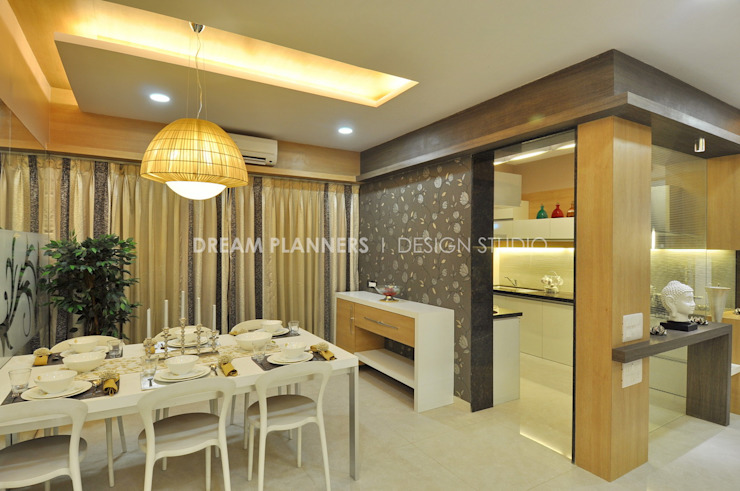 Dining Area: modern  by Dreamplanners,Modern Ceramic