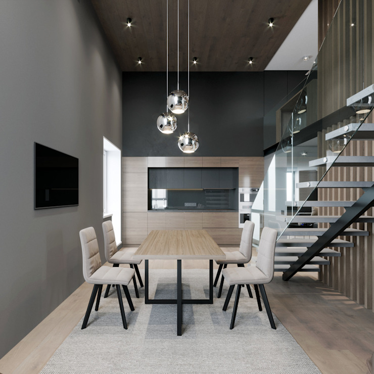 EJ Studio Living room Concrete Grey