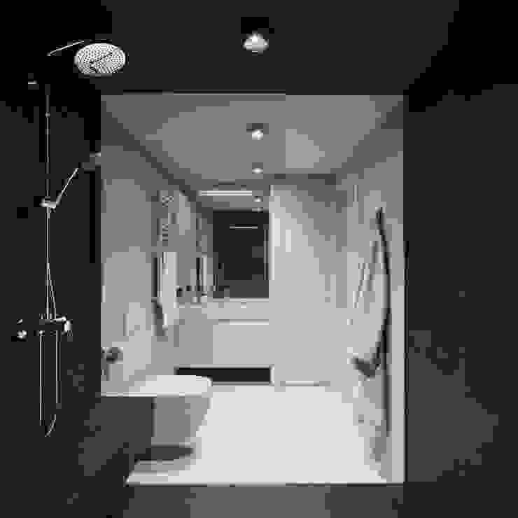 EJ Studio Minimalist style bathrooms Tiles Grey