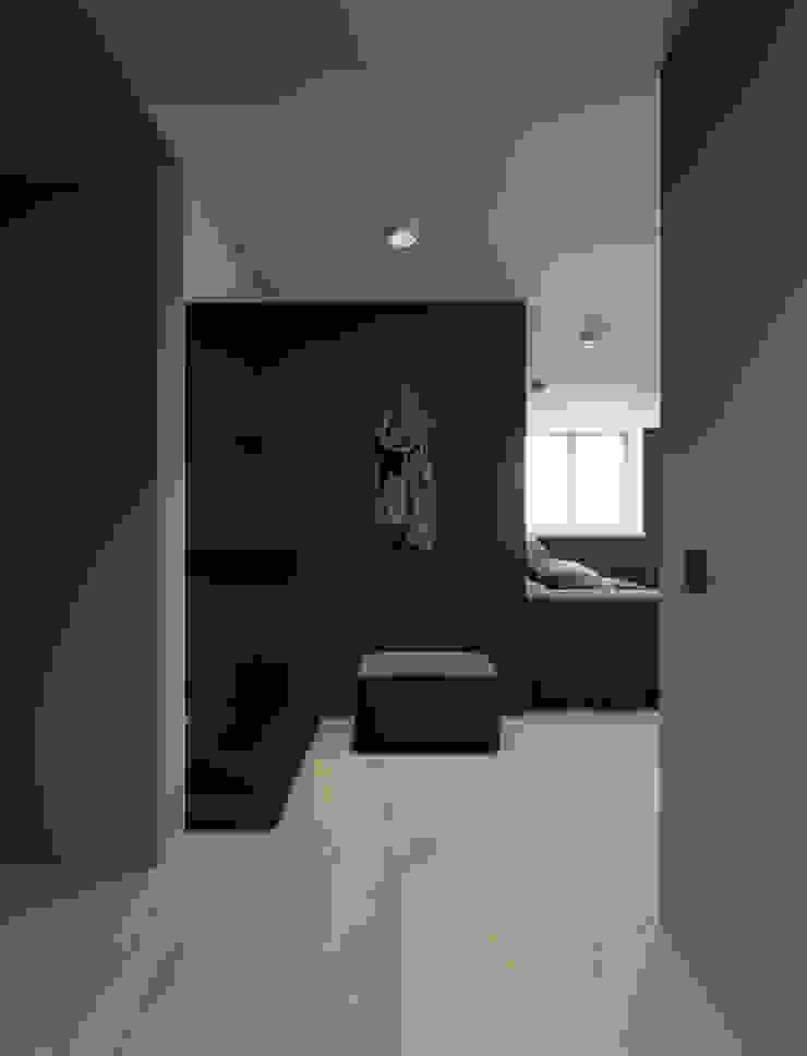EJ Studio Minimalist corridor, hallway & stairs Concrete Grey