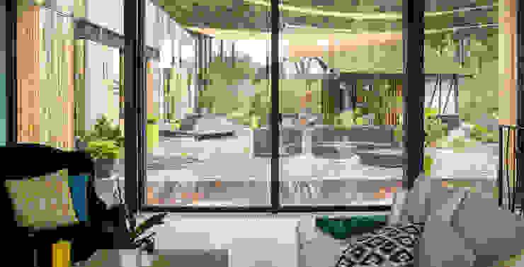RUSTICASA Livings de estilo moderno Madera Acabado en madera