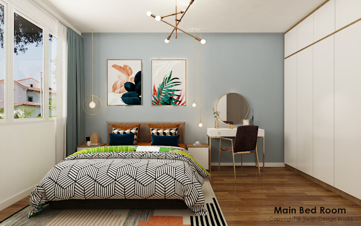 Master bedroom by Swish Design Works Eclectic