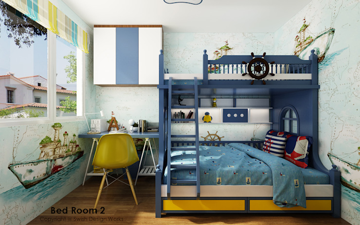 Children's bedroom by Swish Design Works Eclectic Plywood
