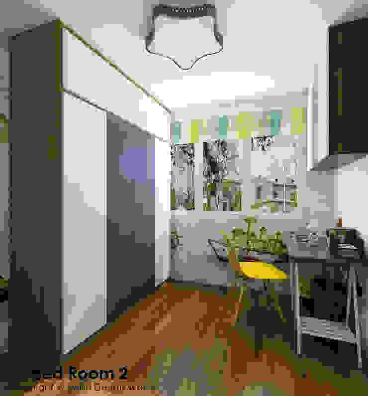 Children's bedroom study area by Swish Design Works Eclectic