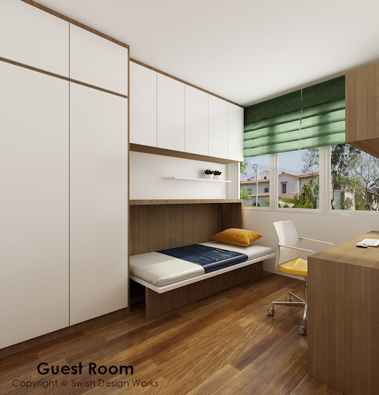 Guest Room by Swish Design Works Eclectic Plywood