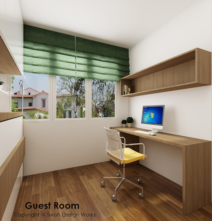 Guest room study area by Swish Design Works Eclectic Plywood