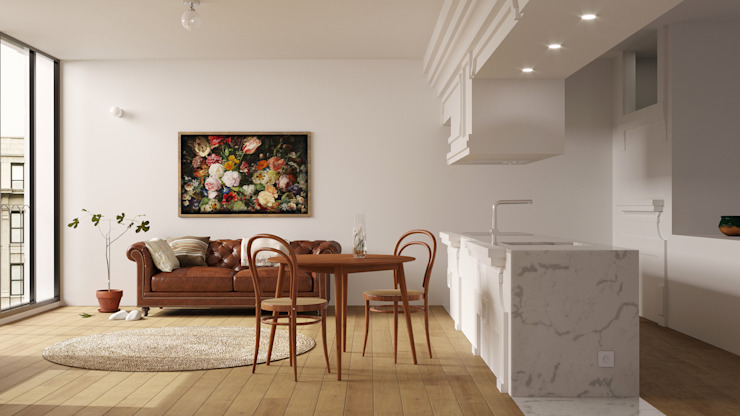 Corpo Atelier Modern corridor, hallway & stairs