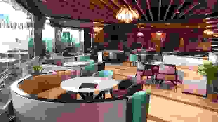 Restaurant area Modern bars & clubs by HC Designs Modern Plywood