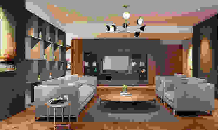 Thiết kế nội thất căn hộ Penthouse hiện đại Bluesky do CEEB Architects thiết kế. bởi CÔNG TY THIẾT KẾ NHÀ ĐẸP SANG TRỌNG CEEB Hiện đại