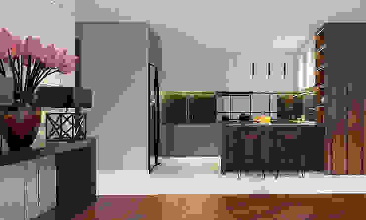 Thiết kế nội thất căn hộ Penthouse hiện đại Bluesky do CEEB Architects thiết kế. Nhà bếp phong cách hiện đại bởi CÔNG TY THIẾT KẾ NHÀ ĐẸP SANG TRỌNG CEEB Hiện đại