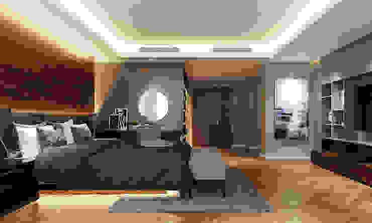 Thiết kế nội thất căn hộ Penthouse hiện đại Bluesky do CEEB Architects thiết kế. Phòng ngủ phong cách hiện đại bởi CÔNG TY THIẾT KẾ NHÀ ĐẸP SANG TRỌNG CEEB Hiện đại