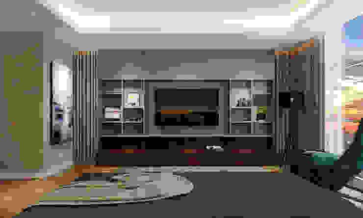 Thiết kế nội thất căn hộ Penthouse hiện đại Bluesky do CEEB Architects thiết kế. Phòng giải trí phong cách hiện đại bởi CÔNG TY THIẾT KẾ NHÀ ĐẸP SANG TRỌNG CEEB Hiện đại