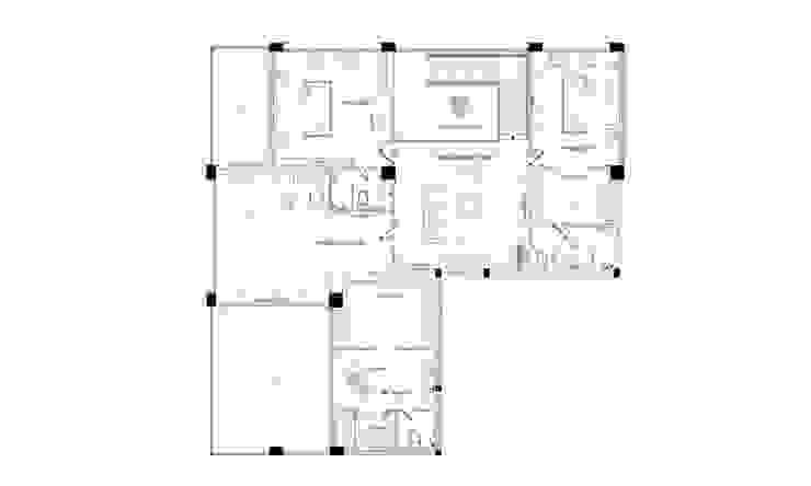 Thiết kế nội thất căn hộ Penthouse hiện đại Bluesky do CEEB Architects thiết kế.: hiện đại  by CÔNG TY THIẾT KẾ NHÀ ĐẸP SANG TRỌNG CEEB, Hiện đại