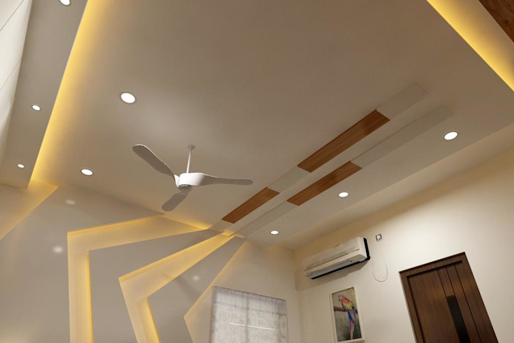 Miyapur Hyderabad PU and Vineer work Classic style living room by Zen Design Studio Classic