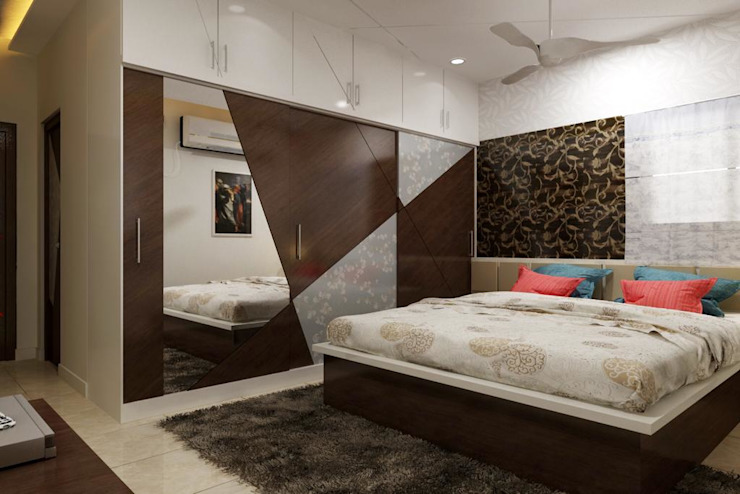 Miyapur Hyderabad PU and Vineer work Classic style bedroom by Zen Design Studio Classic