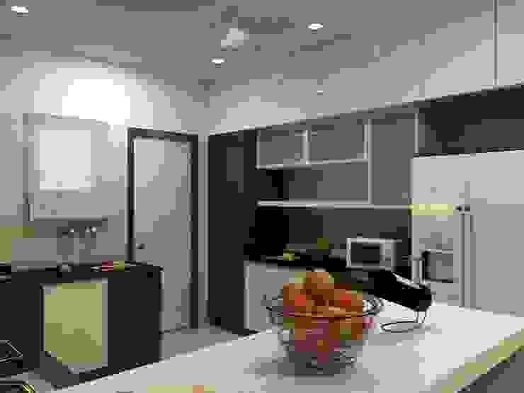 Miyapur Hyderabad PU and Vineer work Classic style kitchen by Zen Design Studio Classic