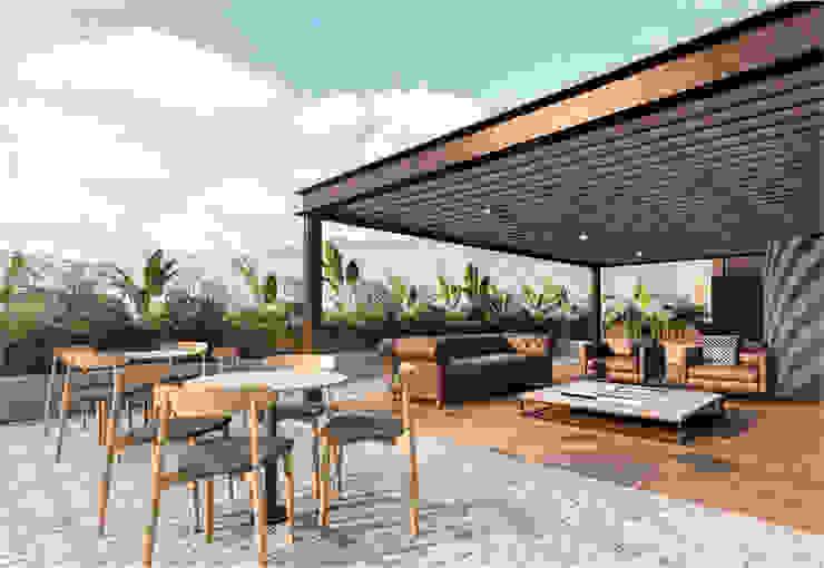 Serra Balcones y terrazas de estilo moderno de Orvel Construcciones Moderno