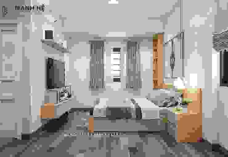 Giường ngủ dạng bục cho không gian phòng ngủ master đẳng cấp Phòng ngủ phong cách hiện đại bởi Công ty TNHH Nội Thất Mạnh Hệ Hiện đại