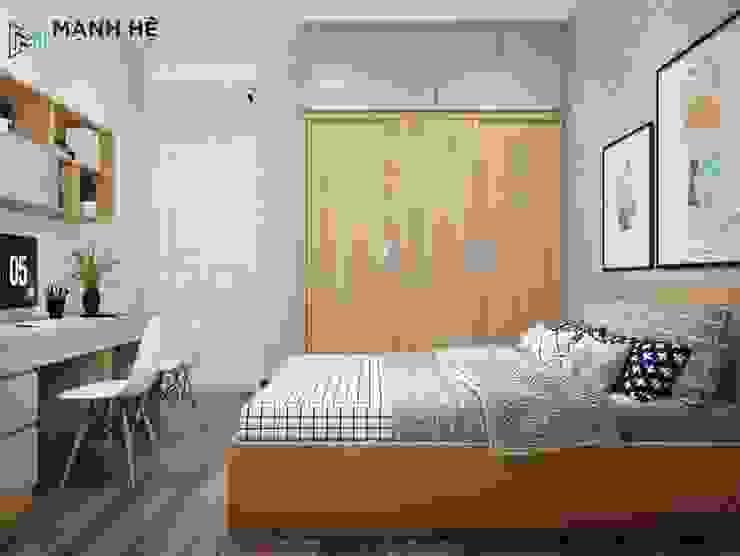 Tủ quần áo gỗ công nghiệp cửa lùa đụng trần bảo đảm an toàn cho bé không bị kẹt tay bởi Công ty TNHH Nội Thất Mạnh Hệ Hiện đại