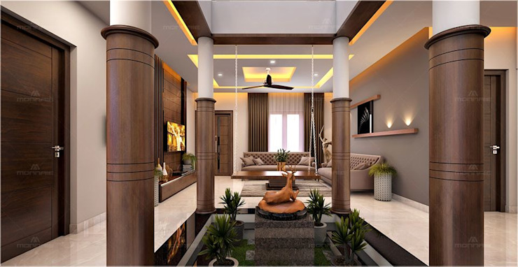 We shape your homes with a creativity idea as you wish. Classic style corridor, hallway and stairs by Monnaie Interiors Pvt Ltd Classic