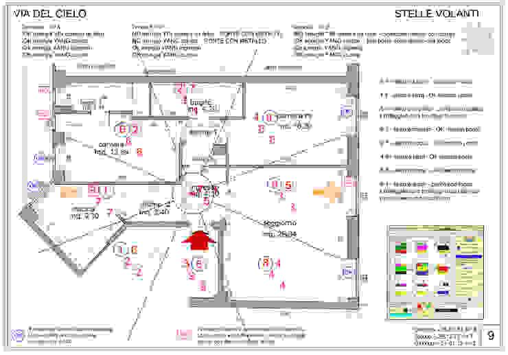 Ristrutturazione interna appartamento a Milano yugen feng shui Sala multimediale moderna