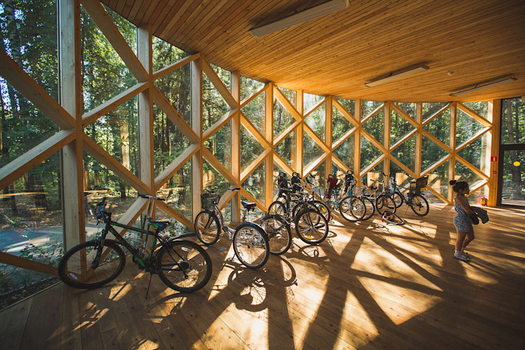 Пункт велопроката. Парк Мещерский от Alpbau Минимализм