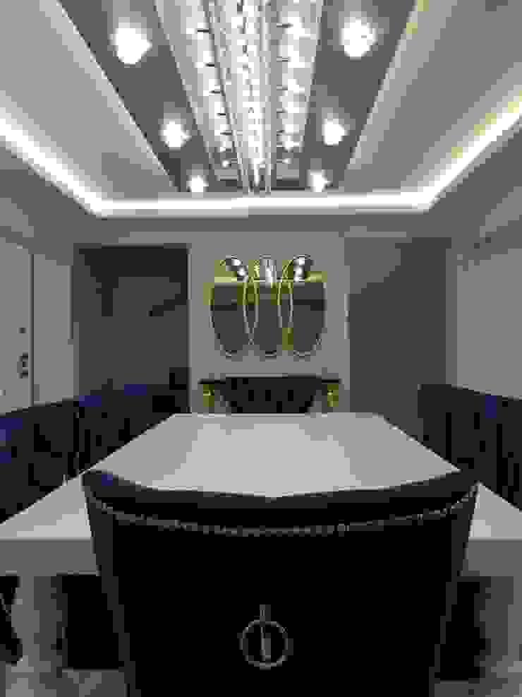 levent tekin iç mimarlık Modern dining room Wood Turquoise