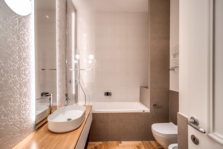MOB ARCHITECTS Modern style bathrooms