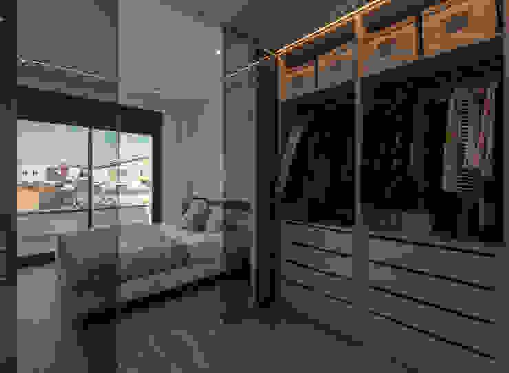 Projecte i construcció d'habitatge unifamiliar aïllat a Vilafant Dormitorios de estilo moderno de LAV Moderno