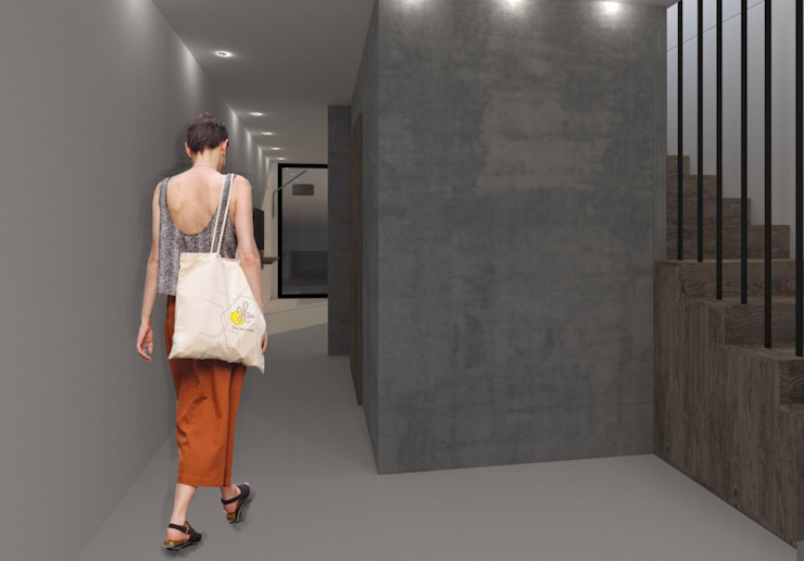 Pasillos, vestíbulos y escaleras modernos de Nuno Ladeiro, Arquitetura e Design Moderno