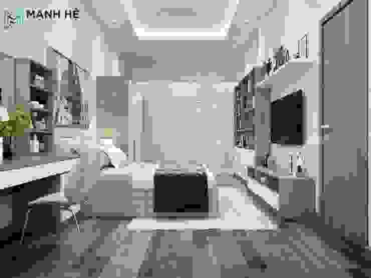 Thiết kế thi công hoàn thiện nội thất chung cư The Goldview 70m2 phong cách tân cổ điển — chị Ngọc, Q.4 bởi Thiết kế nội thất trọn gói Hiện đại Bê tông cốt thép