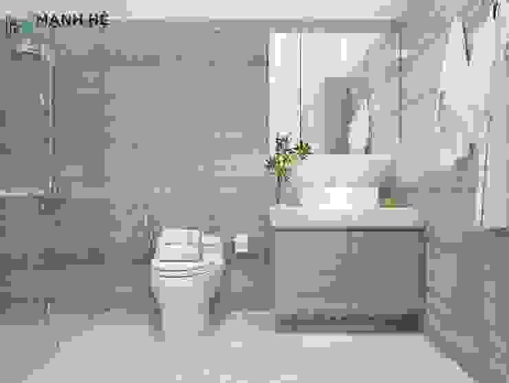 Thiết kế nhà vệ sinh nhỏ trong phòng ngủ Phòng tắm phong cách hiện đại bởi Công ty TNHH Nội Thất Mạnh Hệ Hiện đại