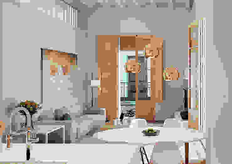 Modern living room by Baena Casamor Arquitectes BCQ, slp Modern