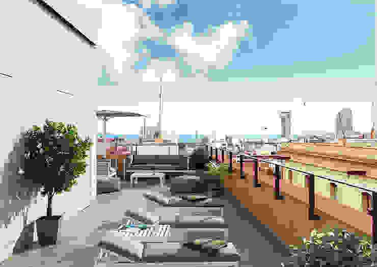 Modern terrace by Baena Casamor Arquitectes BCQ, slp Modern