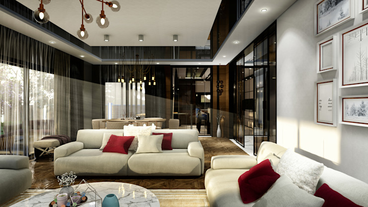 Modern living room by ANTE MİMARLIK Modern
