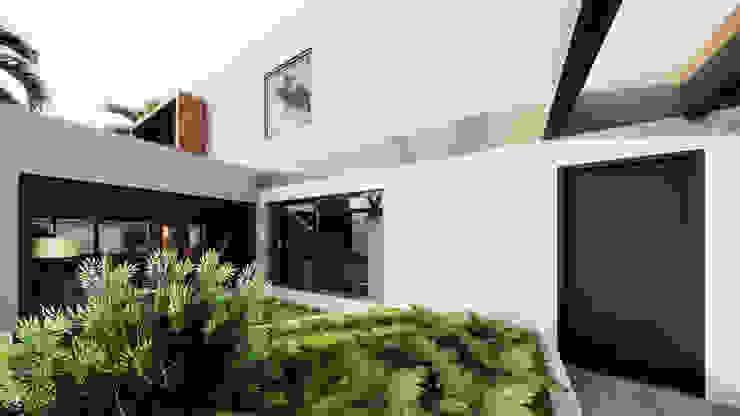 Pátio Jardim Jardins de inverno modernos por Saulo Magno Arquiteto Moderno Cerâmica