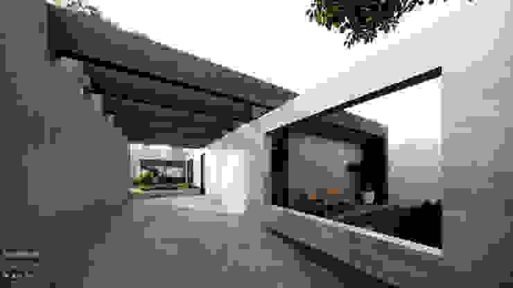Garagem Vista para Pátio por Saulo Magno Arquiteto Moderno Cerâmica