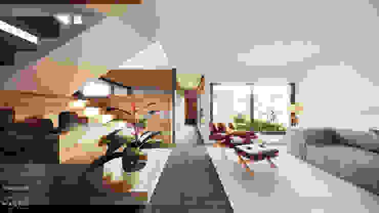 Sala de Estar e Corredor Salas de estar modernas por Saulo Magno Arquiteto Moderno