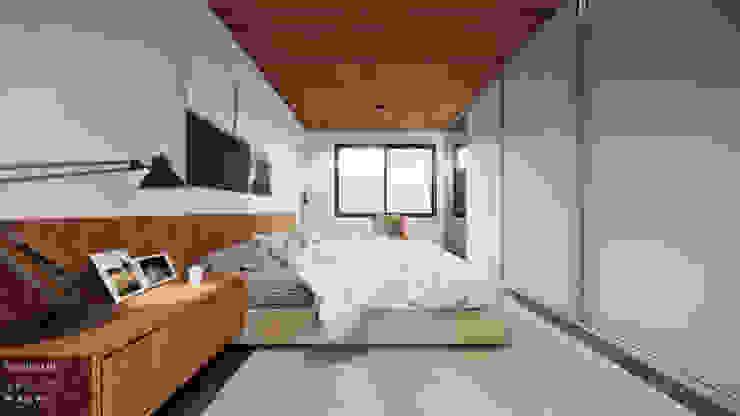 Suíte Principal Quartos modernos por Saulo Magno Arquiteto Moderno Madeira Efeito de madeira