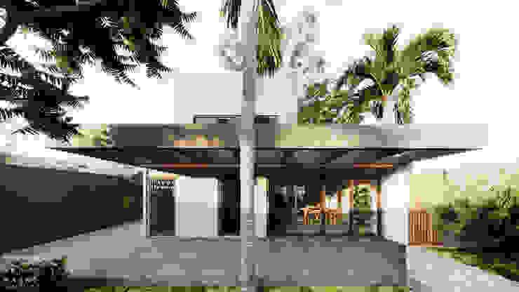 Varanda Fundos por Saulo Magno Arquiteto Moderno Concreto