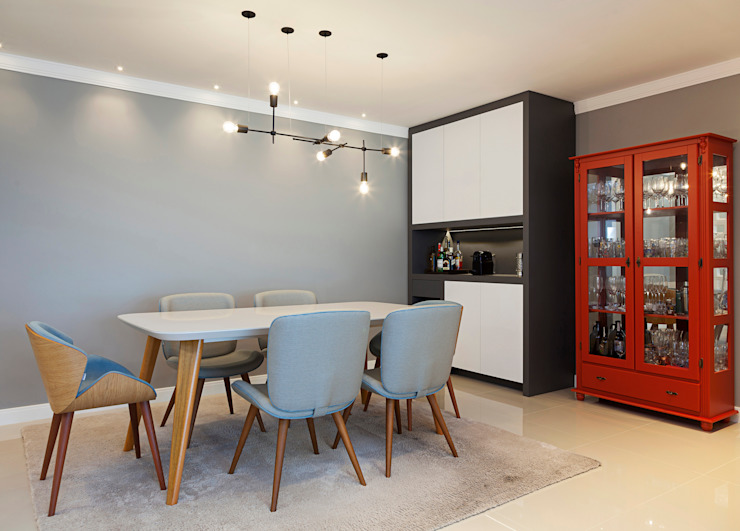 Sala de Jantar l MMZ A84 Studio de Arquitetura Salas de jantar modernas