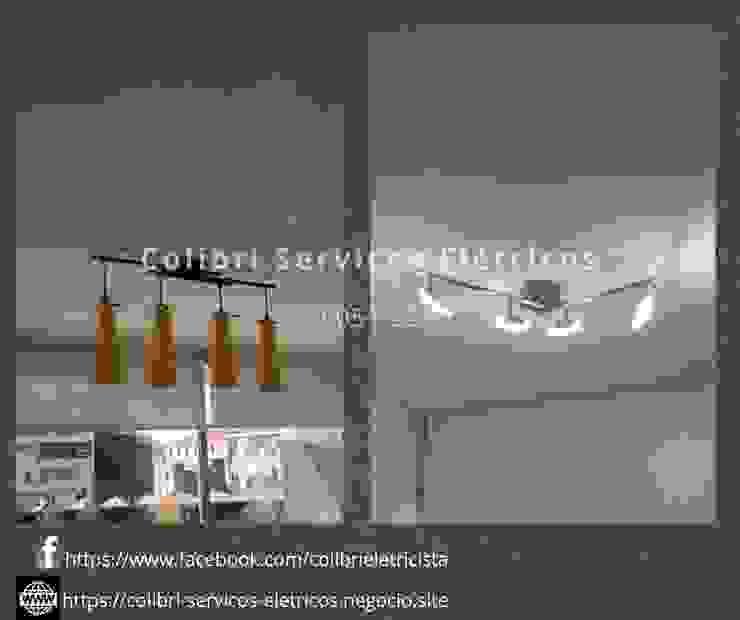Ruang Studi/Kantor Modern Oleh Colibri Serviços Elétricos Modern Bambu Green