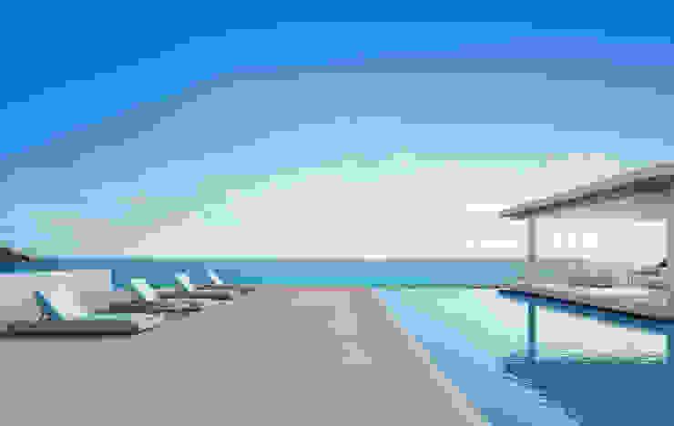 Chiusura per residenziale Key Design s.r.l Case in stile mediterraneo Vetro Bianco
