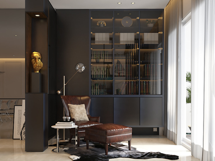 Pavilion Hilltop Norm designhaus Modern Study Room and Home Office