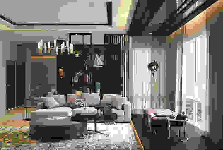 Pavilion Hilltop Norm designhaus Modern Living Room