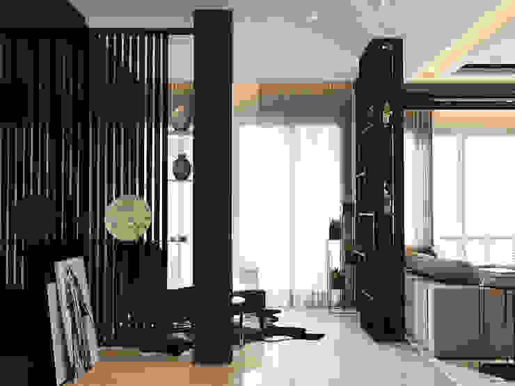 Pavilion Hilltop Norm designhaus Modern Corridor, Hallway and Staircase