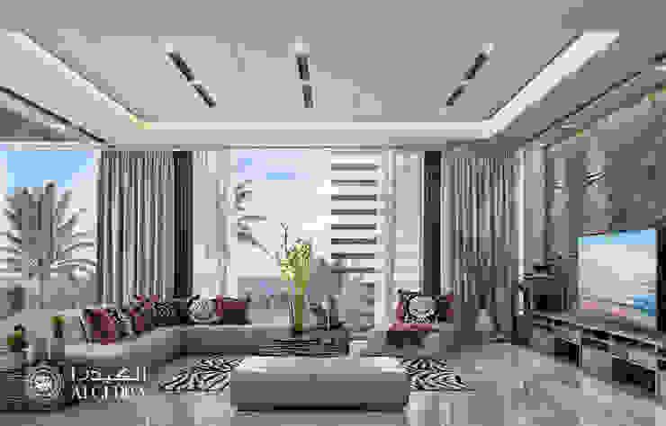 تصميم داخلي غرفة معيشة لفيلا على الطراز المعاصر من Algedra Interior Design حداثي