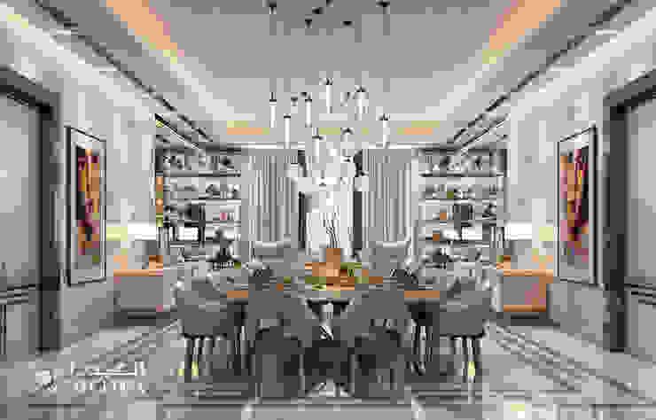 تصميم داخلي لغرفة تناول الطعام لفيلا على الطراز المعاصر من Algedra Interior Design حداثي